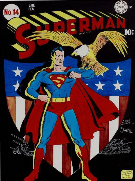 92003: Murphy Anderson Superman #14 Cover Re-creation -