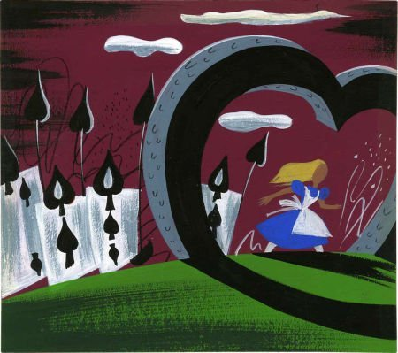 92322: Mary Blair Alice in Wonderland Animation Concept