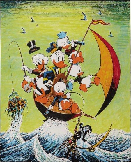 92011: Carl Barks Sailing the Spanish Main Hand Colored