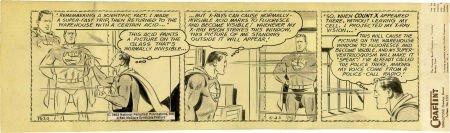92019: Wayne Boring Superman Daily Comic Strip Original