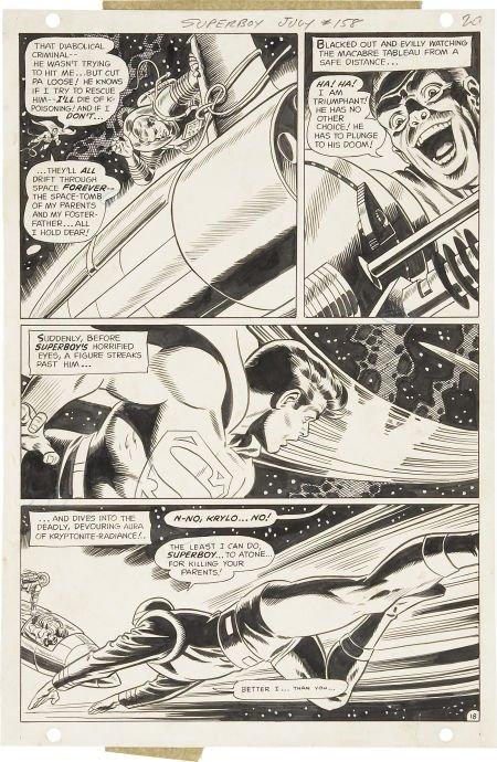 92020: Bob Brown and Wally Wood Superboy #158 page 18 O