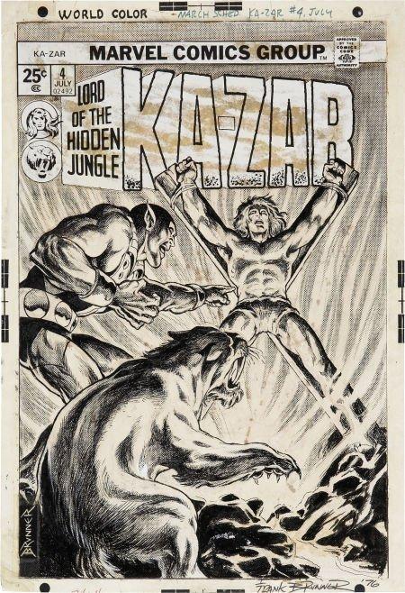 92021: Frank Brunner Ka-Zar #4 (Second Series) Cover Or