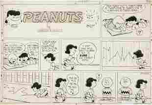 92243: Charles Schulz Peanuts Sunday Comic Strip Origin