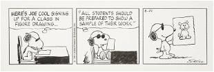 92245: Charles Schulz Peanuts Daily Comic Strip Origina