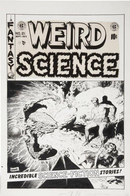 92304: Wally Wood Weird Science #21 Cover Original Art