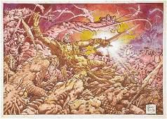 92191: Alex Niño The Minions of Kane Illustration Origi