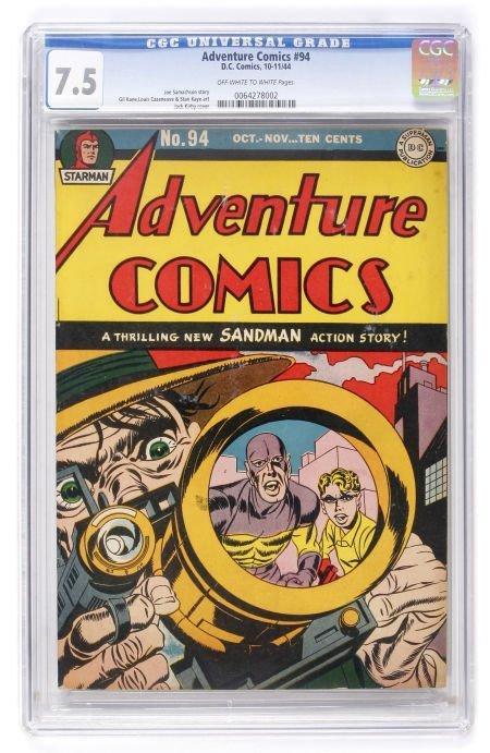 93003: Adventure Comics #94 (DC, 1944) CGC VF- 7.5 Off-