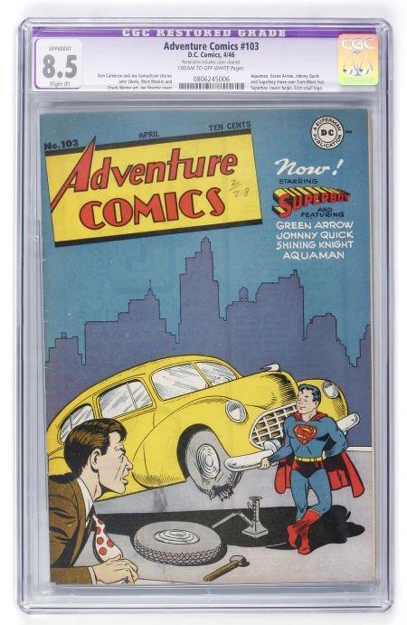 93004: Adventure Comics #103 (DC, 1946) CGC Apparent VF