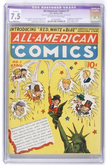 93005: All-American Comics #1 (DC, 1939) CGC Apparent V
