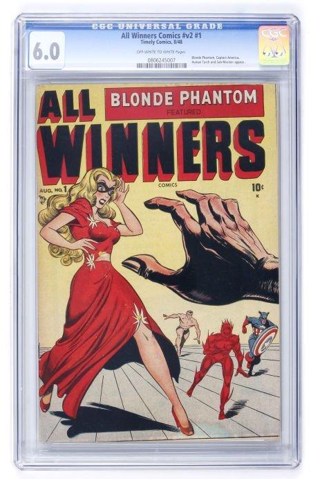 93008: All Winners Comics V2#1 (Timely, 1948) CGC FN 6.