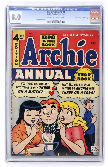 "93009: Archie Annual #4 Davis Crippen (""D"" Copy) pedigr"