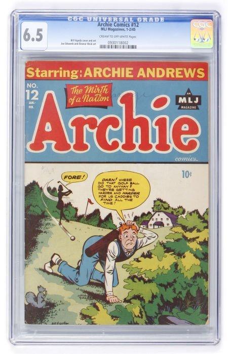 93010: Archie Comics #12 (Archie, 1945) CGC FN+ 6.5 Cre