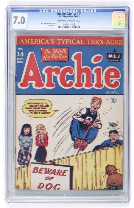 93011: Archie Comics #14 (Archie, 1945) CGC FN/VF 7.0