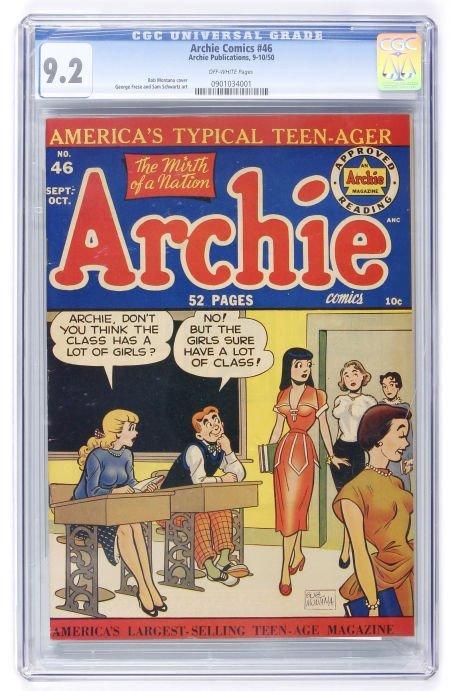 93012: Archie Comics #46 (Archie, 1950) CGC NM- 9.2 Off