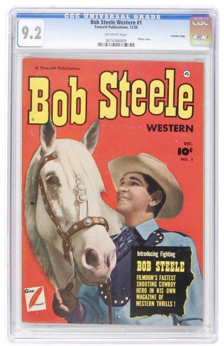 93015: Bob Steele Western #1 Crowley Copy pedigree (Faw