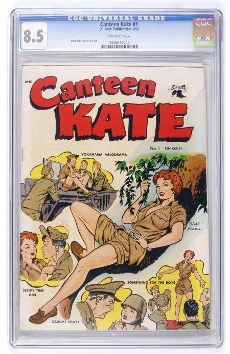 93018: Canteen Kate #1 (St. John, 1952) CGC VF+ 8.5 Off