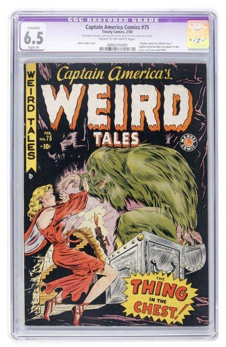 93020: Captain America Comics #75 (Timely, 1950) CGC Ap