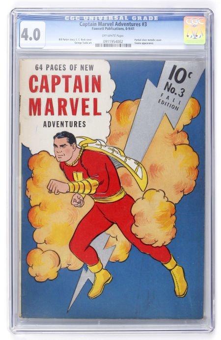93021: Captain Marvel Adventures #3 (Fawcett, 1941) CGC
