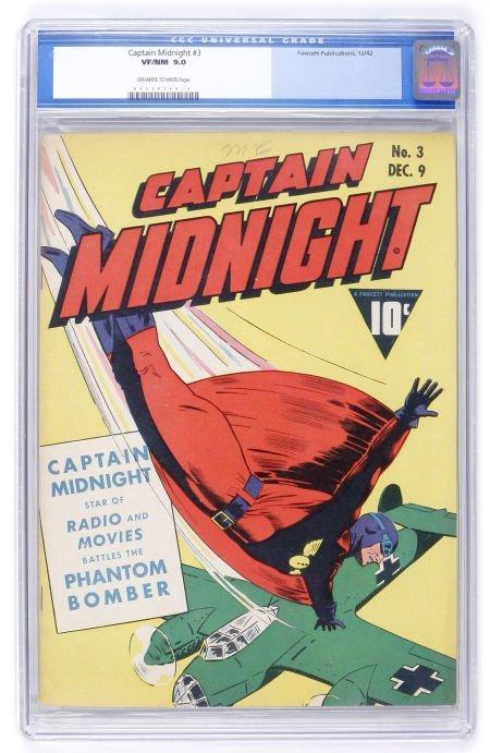 93023: Captain Midnight #3 (Fawcett, 1942) CGC VF/NM 9.