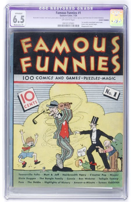 93043: Famous Funnies #1 (Eastern Color, 1934) CGC Appa