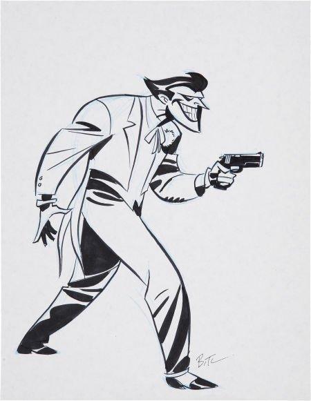 93643: Bruce Timm The Joker Sketch Original Art (undate