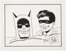 93563: Bob Kane Batman and Robin Sketch Original Art (u