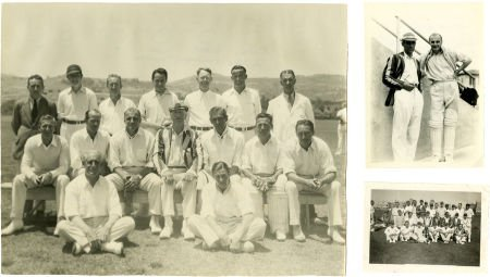 49326: Three Boris Karloff Cricket Pictures. Boris Karl