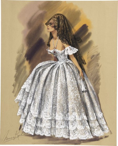49003: Ursula Andress 4 for Texas Costume Design Drawin