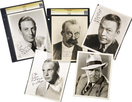 49015: Ray Bolger and Others Actor-Signed Photos. Set o