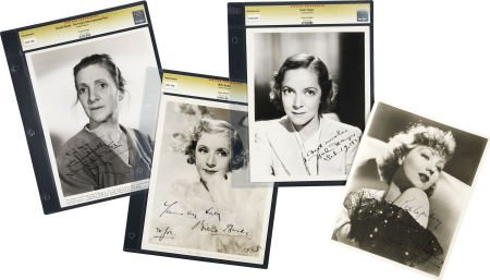 49021: Billie Burke and Others Signed Photos. Set of fo