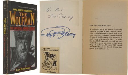 49029: Lon Chaney Jr. and Ralph Bellamy Signed Wolfman