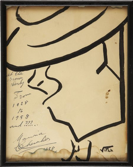 49033: Maurice Chevalier Signed Sketch from the Brown D