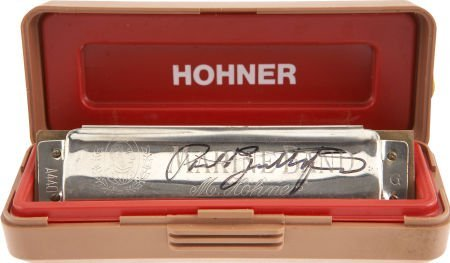 50008: Paul Butterfield Signed Harmonica. A Hohner Spec