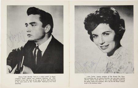 50009: Johnny Cash and June Carter Signed Program Book