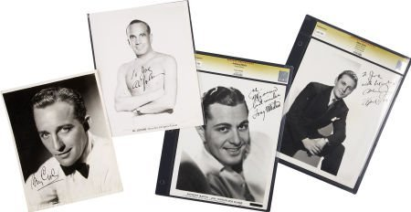 50018: Bing Crosby and Others Singer-Signed Photos. Set
