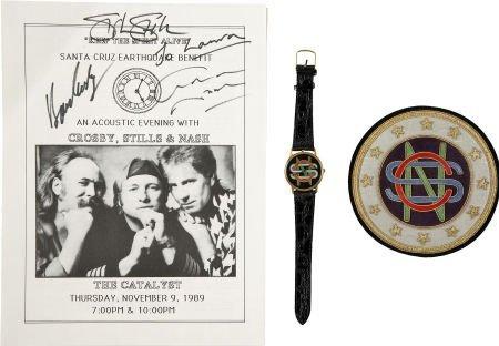 50021: Crosby, Stills & Nash Signed Program with Memora