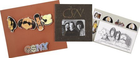 50022: Crosby, Stills, and Nash Signed Tour Book with A