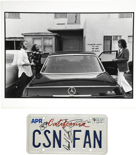 50024: Crosby, Stills and Nash Signed License Plate wit