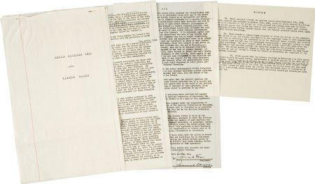 50030: Jimmie Davis Signed Contract. A two-page contrac