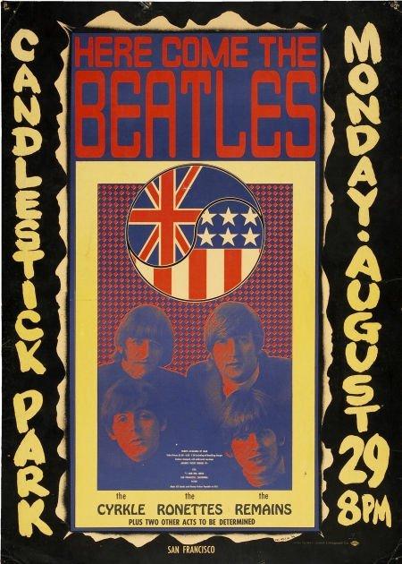 50271: Beatles Candlestick Park Concert Poster (1966).