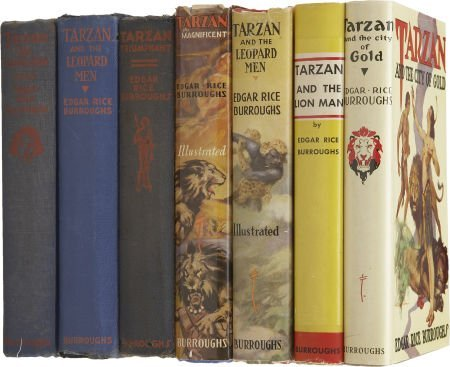 37013: Edgar Rice Burroughs. Seven Tarzan Books, includ