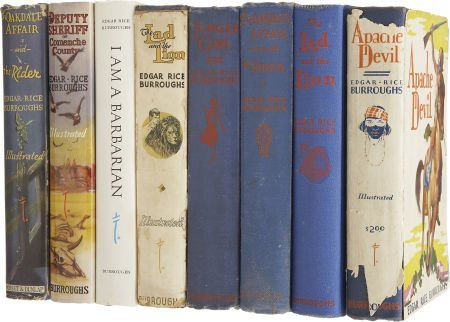 37014: Edgar Rice Burroughs. Eight First Edition Titles