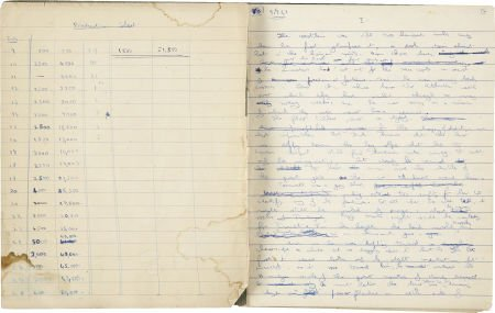 37021: Arthur C. Clarke. Original Manuscript for Prelud