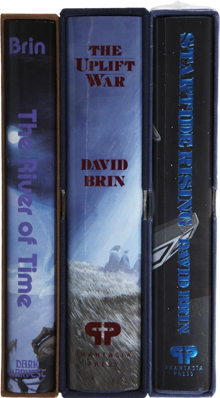37219: David Brin. Three Deluxe Signed Limited Editions