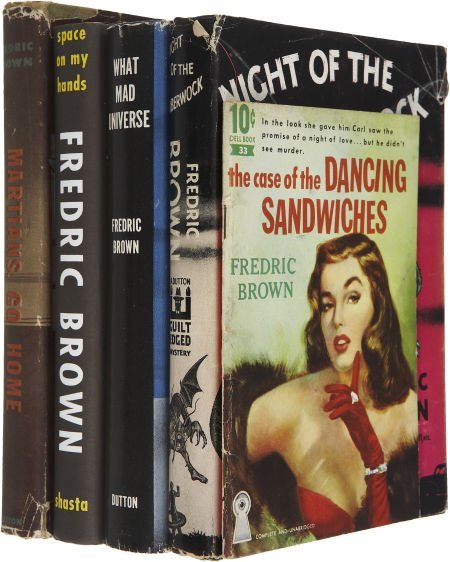 37220: Fredric Brown. Five First Editions, including: T
