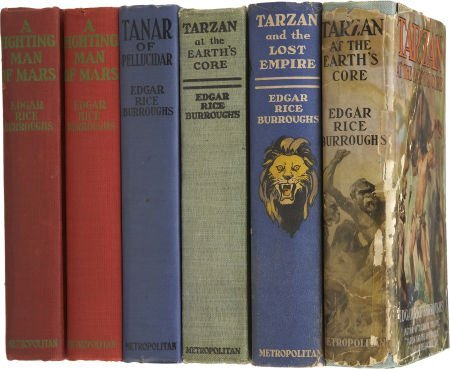 37226: Edgar Rice Burroughs. Six First Editions Publish