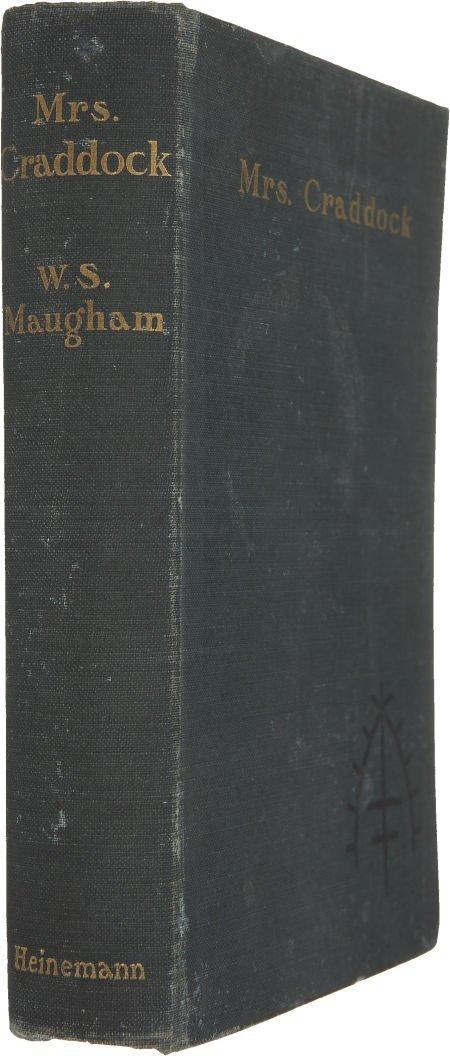 37371: W. Somerset Maugham. Mrs. Craddock. London: Hein