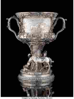 74063: A Gorham Mfg. Co. Silver Horse Racing Trophy: Th