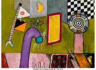 77094: Alan Davie (1920-2014) Flag Walk No. 11, 1973 Oi