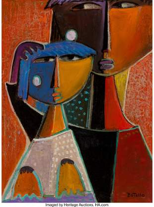 77059: Angel Botello (1913-1986) Mother and Child, circ